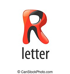 Abstract colorful vector logo letter R