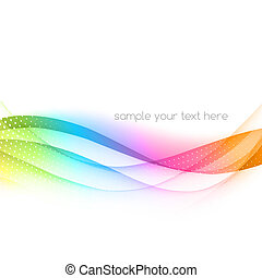 Abstract colorful vector waved background - Abstract...