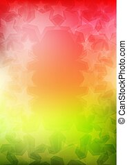 Abstract colorful vertical vector background with star shapes.