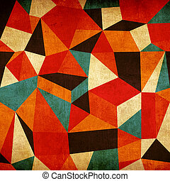 Abstract colorful triangle vintage background. Vector file layered for easy manipulation and coloring.