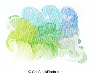 Abstract colorful water color art background.