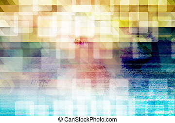 Abstract colorful water color background.