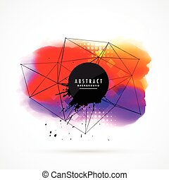 abstract colorful watercolor background design