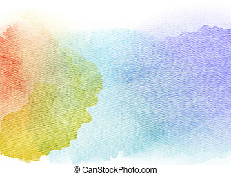 Abstract colorful watercolor background.