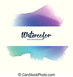 abstract colorful watercolor stain banner