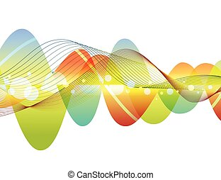 Abstract colorful wave design