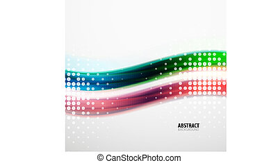 Abstract colorful wavy lines modern pattern
