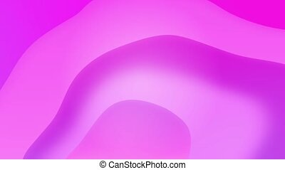 Abstract colorful wavy loop background in bright neon blue and violet colors.