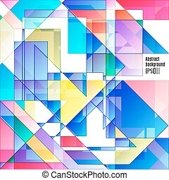 Abstract colorfull geometric background.