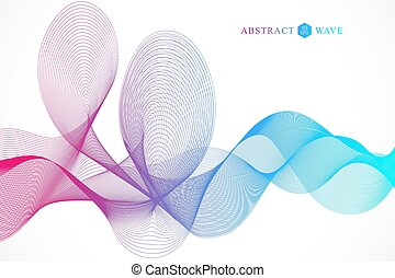 Abstract colorfull wave element for design. Big Data Visualization Background. Modern futuristic virtual abstract background. Vector illustration.