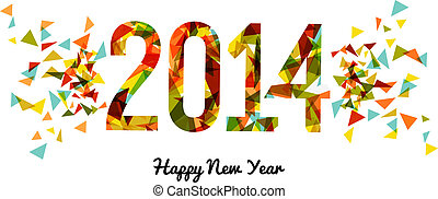 Abstract colors 2014 Happy New Year background