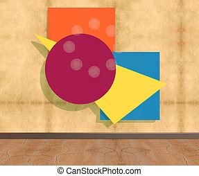 Abstract colors on wall