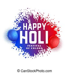 abstract colors splashes with balloons holi festival background