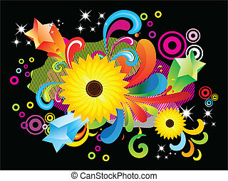 abstract coloruful floral backgroun