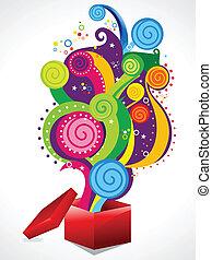 abstract colorul magic box