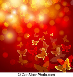 Abstract colourful background with butterflies.