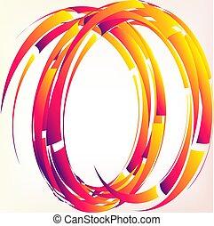 Abstract colourful circle.