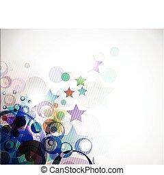 abstract colourful circle wave star
