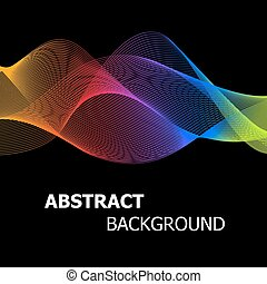 Abstract colourful lines wave background
