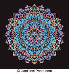 abstract colourful mandala background 2406