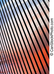 Abstract colourful metal stripes