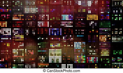 abstract colourful pattern of LED light squares. Could be a ...