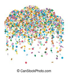Abstract Colourful Raining Confetti Cloud Vector - Abstract...