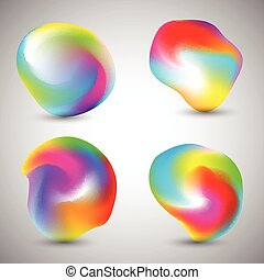Abstract colourful shapes