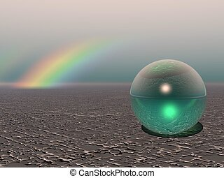 Abstract - Colourful Sphere with Rainbow
