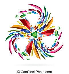 Abstract colourful star for your design. Illustration on...