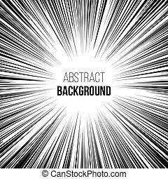 Abstract comic book explosion radial lines