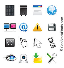 abstract communication icons set