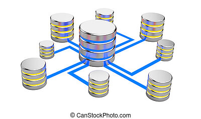 Abstract communications, Database concept - Abstract...