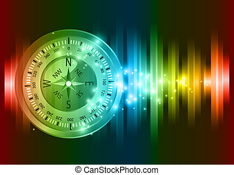 Abstract compass vector  background