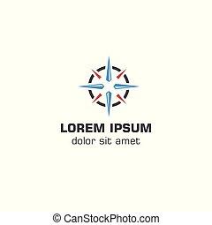 Abstract compass .Vector logo template