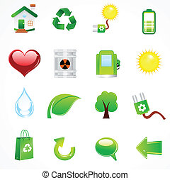 abstract complete eco icon vector illustration