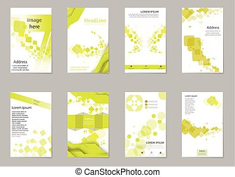 Abstract composition, business card set, box block text...