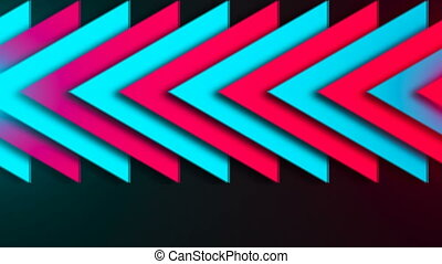Abstract composition of bright arrows