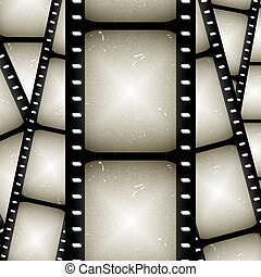 film strip - abstract composition of movie frames or film...