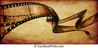 abstract composition of movie frames or film strip