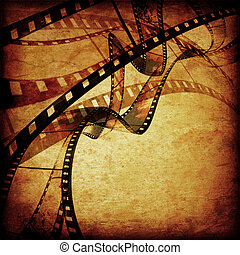 movie frames or film strip - abstract composition of movie...