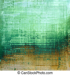 Abstract composition on textured, vintage background with grunge stains. With different color patterns: yellow (beige); brown; cyan; green