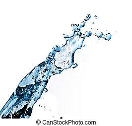 blue splashing water