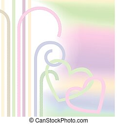 hearts in pastel colors