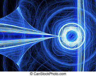 Abstract computer generated blue energy fractal. Good as background or wallpaper.