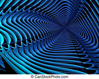 Abstract computer-generated image modern blue background