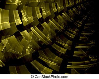 Abstract computer-generated modern yellow and black background