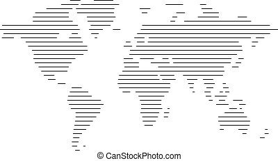 World map abstract vintage computer graphic of black lines world map of lines gumiabroncs Choice Image