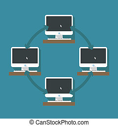 Abstract computer network scheme