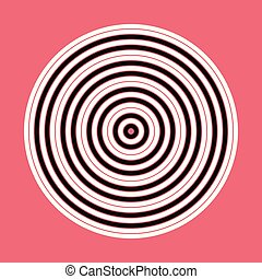 Abstract Concentric Circle Elements, Backgrounds Vector Pattern